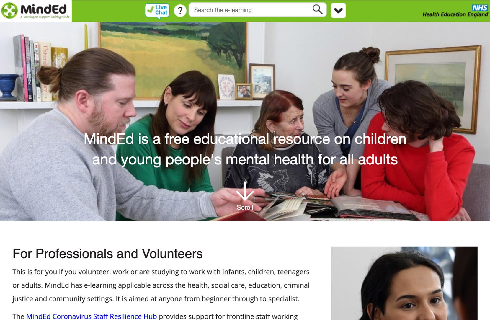 MindEd Website